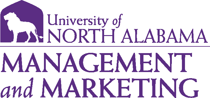 College of Business - Management and Marketing Logo - Purple - Version 1