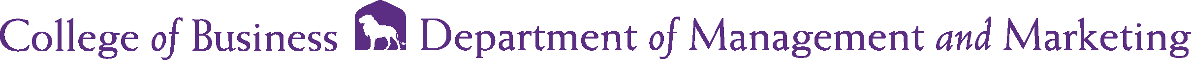 College of Business - Management and Marketing Logo - Purple - Version 2