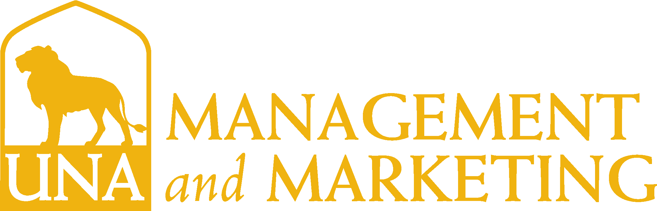 College of Business - Management and Marketing Logo - Gold - Version 3