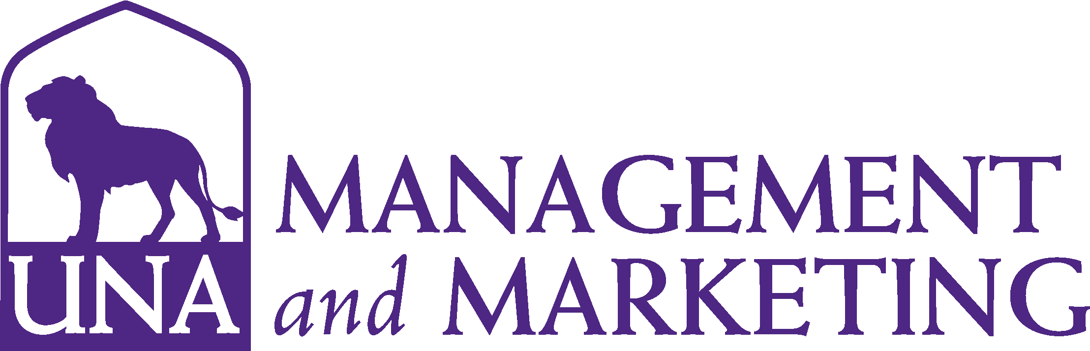 College of Business - Management and Marketing Logo - Purple - Version 3