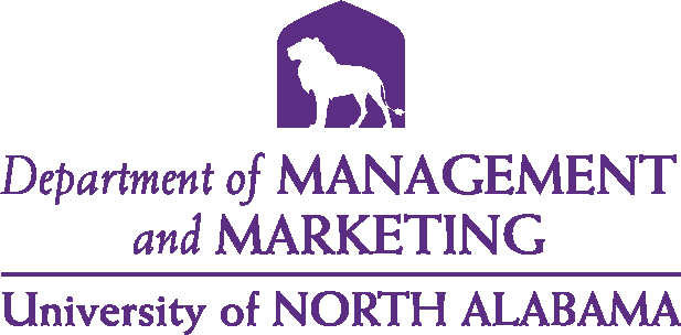 College of Business - Management and Marketing Logo - Purple - Version 4