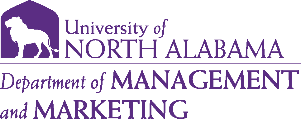 College of Business - Management and Marketing Logo - Purple - Version 6