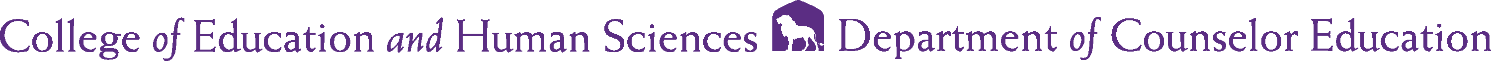 College of Education and Human Sciences - Counselor Education Logo - Purple - Version 2