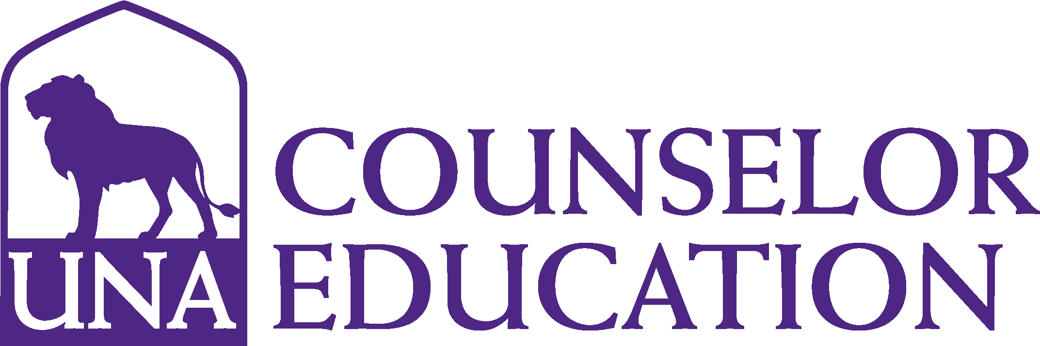 College of Education and Human Sciences - Counselor Education Logo - Purple - Version 3