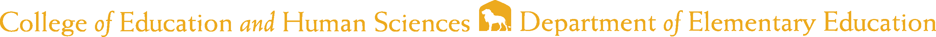 College of Business - Elementary Education Logo - Gold - Version 2