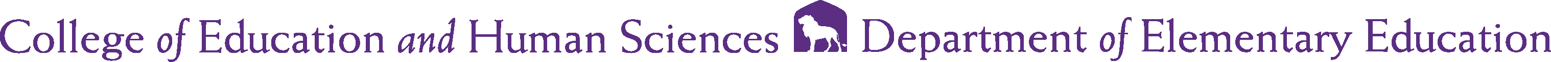 College of Business - Elementary Education Logo - Purple - Version 2