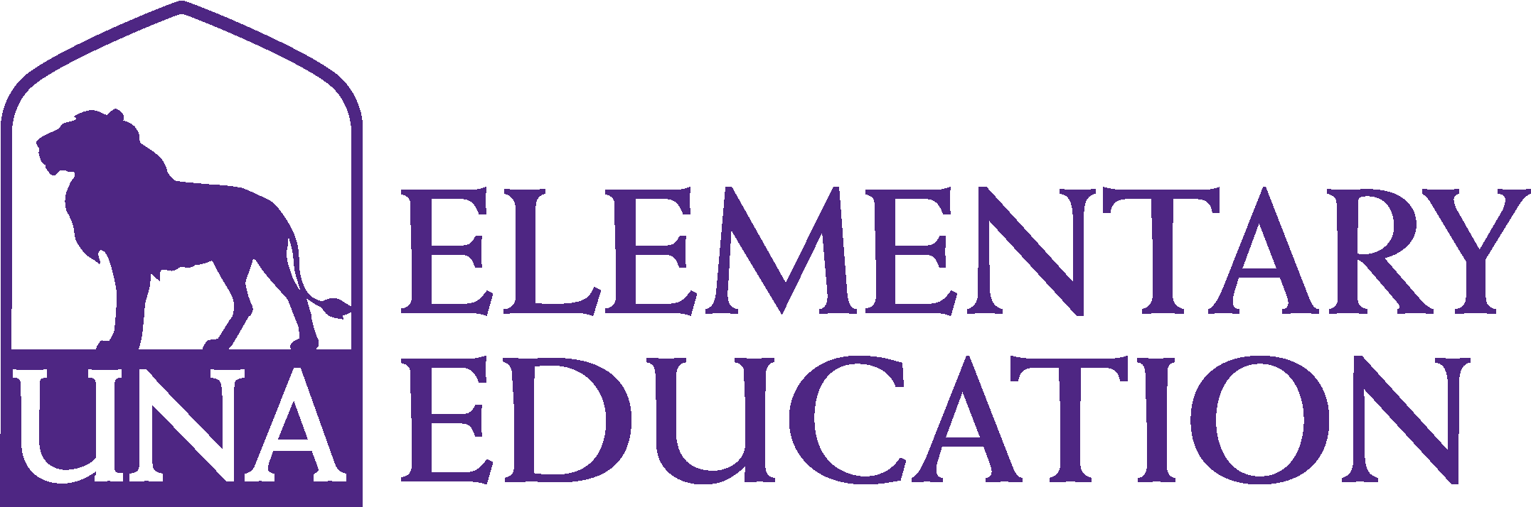 College of Business - Elementary Education Logo - Purple - Version 3
