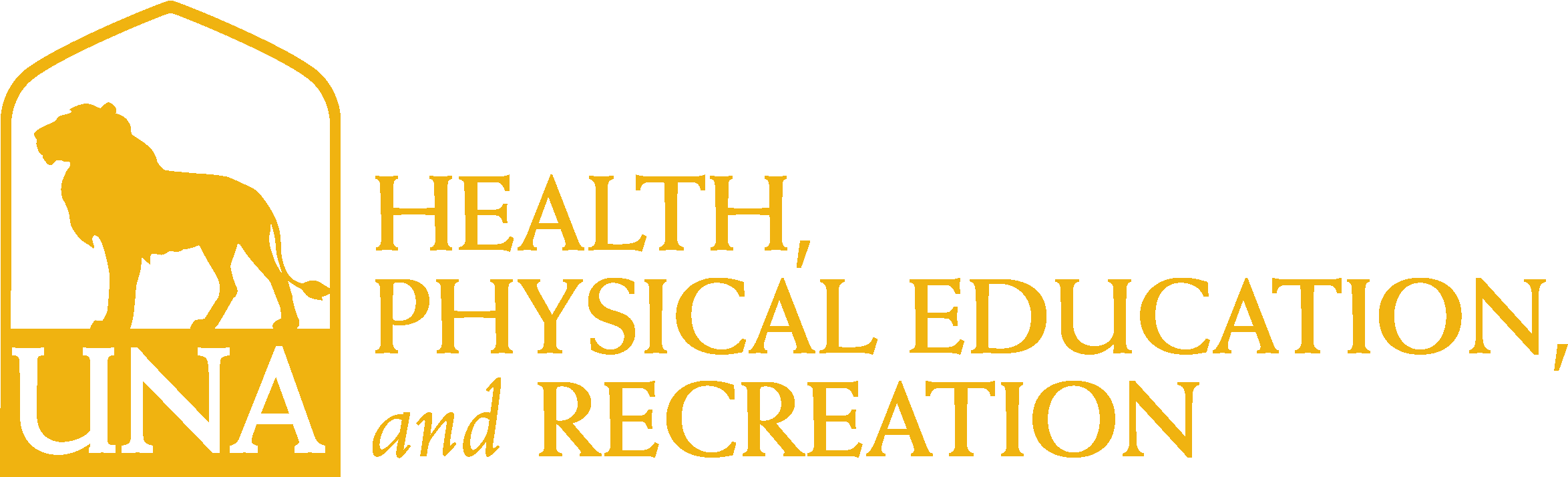 College of Education and Human Services - Health Physical Education & Recreation Logo - Gold - Version 3