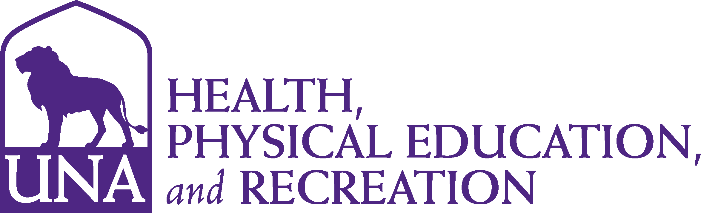 College of Education and Human Services - Health Physical Education & Recreation Logo - Purple - Version 3