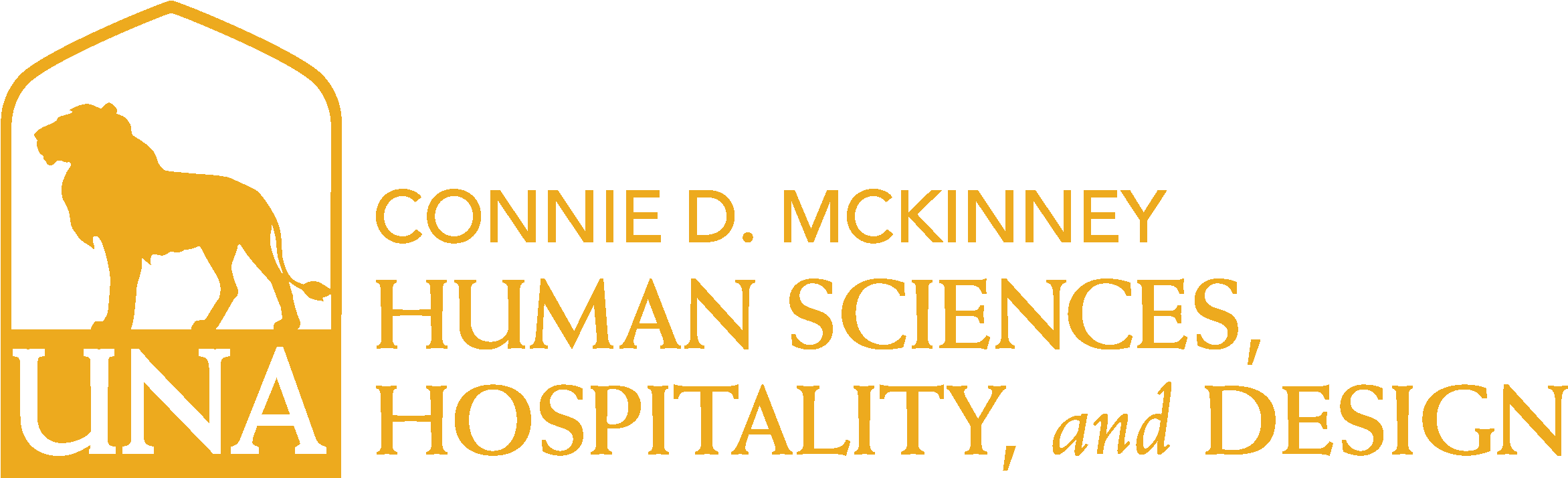 College of Education and Human Services - Human Sciences and Hospitality Design Logo - Gold - Version 3