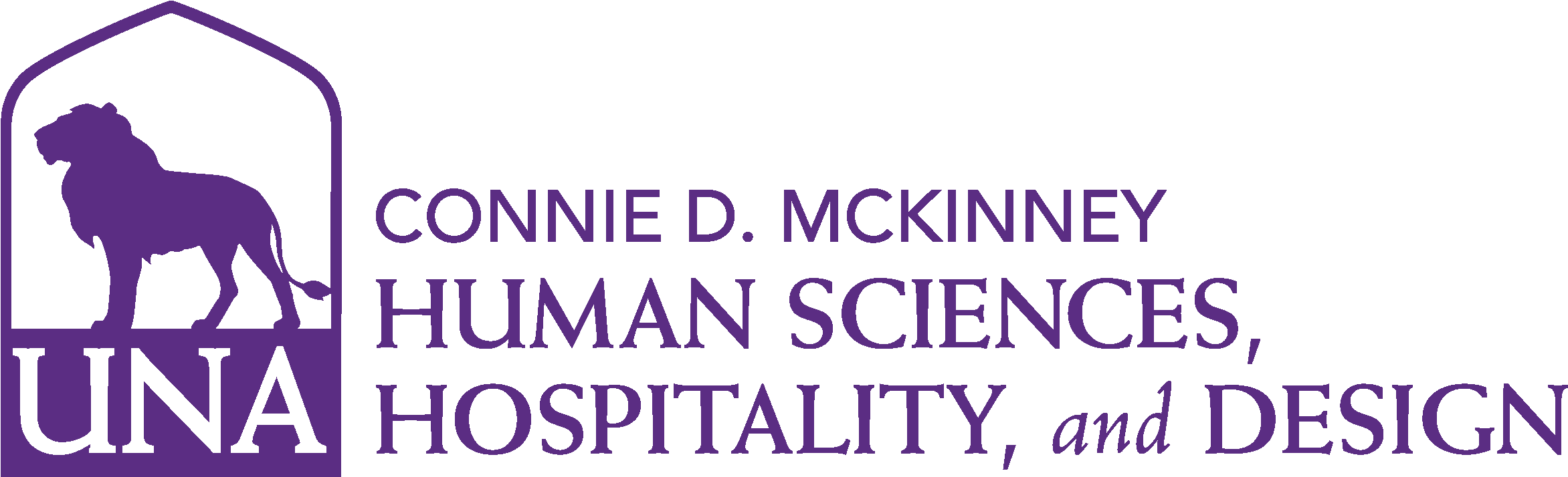 College of Education and Human Services - Human Sciences and Hospitality Design Logo - Purple - Version 3