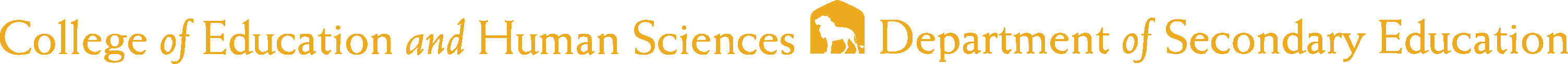 College of Education and Human Services - Secondary Education Logo - Gold - Version 2