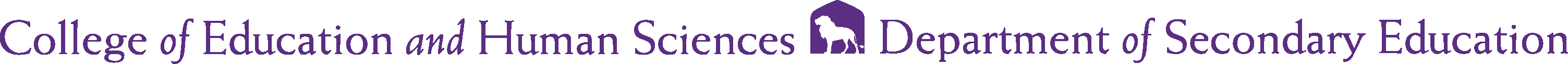 College of Education and Human Services - Secondary Education Logo - Purple - Version 2