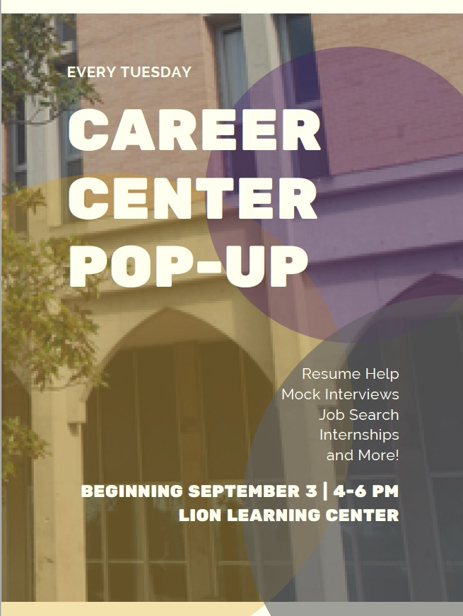 Career Center Pop-Ups