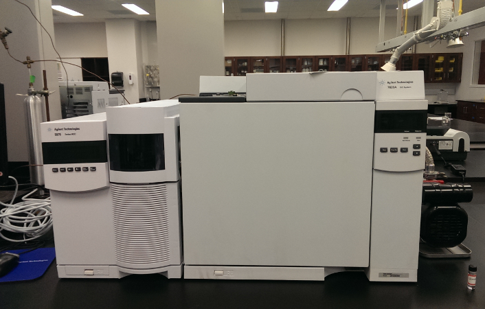 Agilent 7820A GC with Agilent 5975 Mass Spectrometer