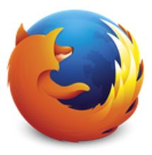Firefox Logo - Red/Orange fox curled around globe
