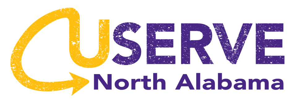 UServe logo purple and gold